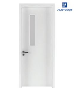 FL201 - Cửa gỗ nhựa composite Austdoor phẳng trơn kính ngang