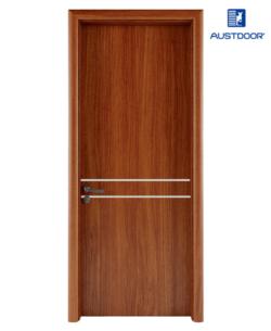 LA201 - Cửa gỗ nhựa composite Austdoor chỉ nhôm bất đối xứng