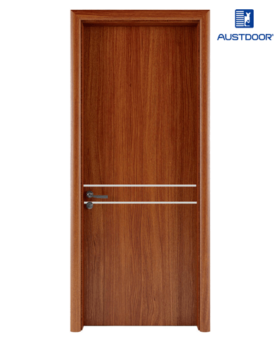 LA201 – Cửa gỗ nhựa composite Austdoor chỉ nhôm bất đối xứng