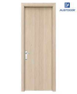 SK101 - Cửa gỗ công nghiệp Austdoor phẳng trơn veneer tần bì