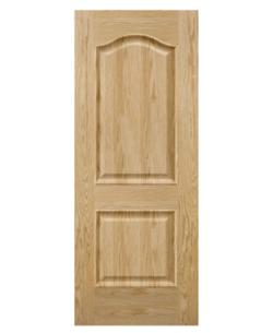 SK301.O - Cửa gỗ công nghiệp Austdoor pano vòm veneer sồi đỏ