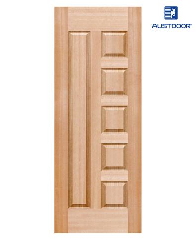 SK305.M – Cửa gỗ công nghiệp Austdoor pano khối veneer gỗ gụ