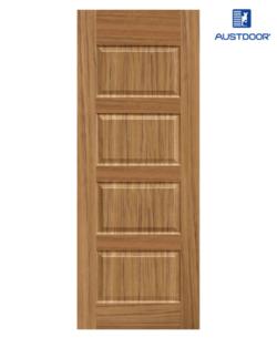 SK306.T - Cửa gỗ công nghiệp Austdoor sang trọng veneer gỗ tếch
