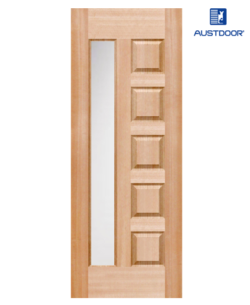 SK401.M - Cửa gỗ công nghiệp Austdoor kính dọc veneer gỗ gụ