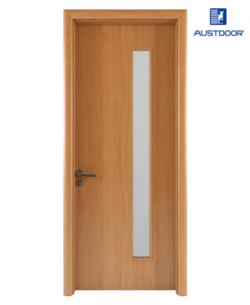 FL202 - Cửa gỗ nhựa composite Austdoor phẳng trơn kính dài