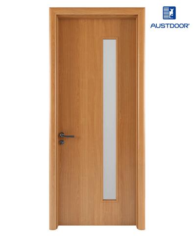 FL202 – Cửa gỗ nhựa composite Austdoor phẳng trơn kính dài
