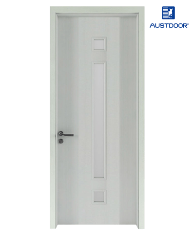 FL205 – Cửa gỗ nhựa composite Austdoor pano kính dài