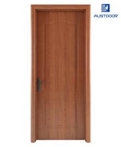 GR101 - Cửa gỗ nhựa composite Austdoor khắc pano vòm