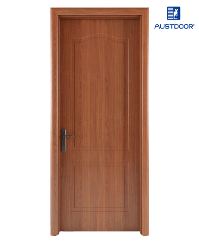 GR101 – Cửa gỗ nhựa composite Austdoor khắc pano vòm