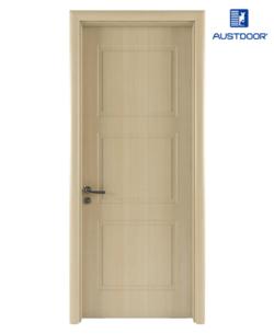 GR202 - Cửa gỗ nhựa composite Austdoor khắc pano 3 khối đều