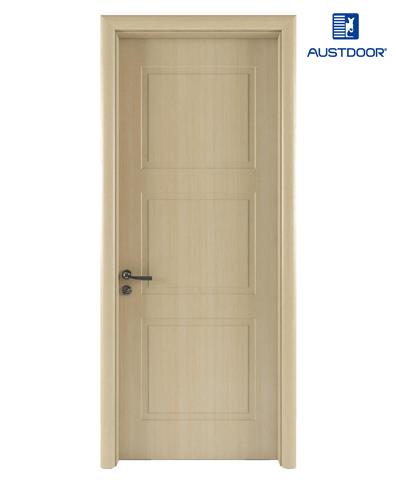 GR202 – Cửa gỗ nhựa composite Austdoor khắc pano 3 khối đều