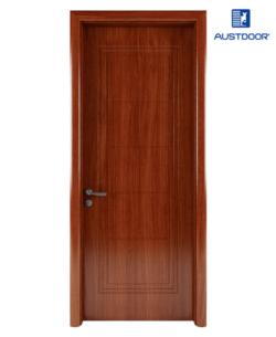 GR207 - Cửa gỗ nhựa composite Austdoor khắc pano 5 khối đều