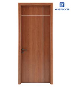 LA101 - Cửa gỗ nhựa composite Austdoor Chỉ sơn giao thoa