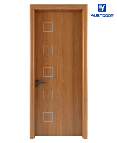 LA107 – Cửa gỗ nhựa composite Austdoor chỉ sơn pano