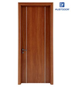 LA202 - Cửa gỗ nhựa composite Austdoor chỉ nhôm đối xứng