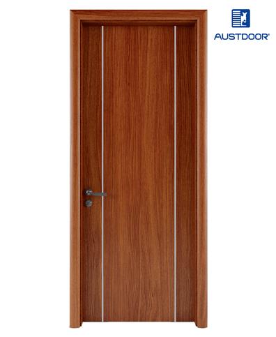 LA202 – Cửa gỗ nhựa composite Austdoor chỉ nhôm đối xứng