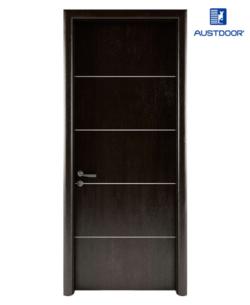 LA204 - Cửa gỗ nhựa composite Austdoor chỉ nhôm pano đều