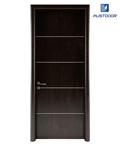 LA204 – Cửa gỗ nhựa composite Austdoor chỉ nhôm pano đều