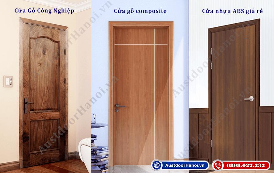 So sánh ưu nhược điểm cửa gỗ công nghiệp, cửa gỗ nhựa composite chịu nước, cửa nhựa lõi thép abs giá rẻ