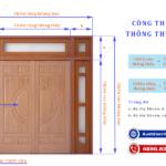 Kích thước cửa chính theo phong thủy