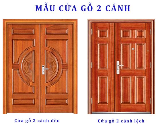 Mẫu cửa chính 2 cánh - Austdoorhanoi.vn