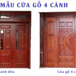 Kích thước cửa chính 4 cánh theo phong thủy
