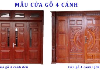 Mẫu cửa chính 4 cánh - Austdoorhanoi.vn