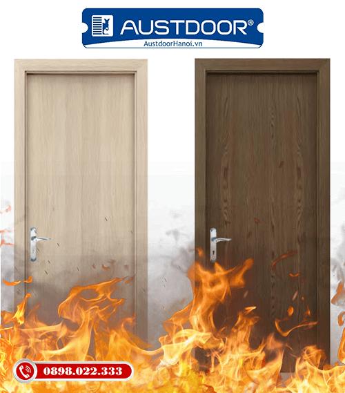 Mẫu cửa gỗ chống cháy Huge - Austdoor