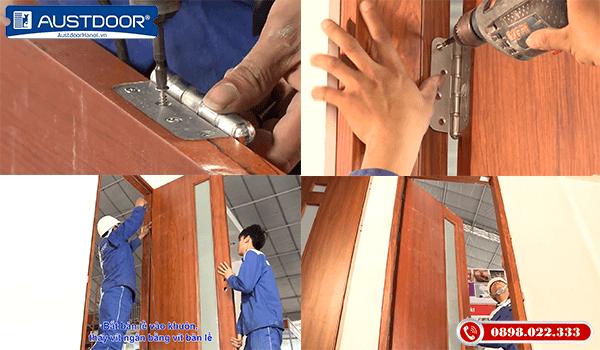 Bước 4 thi công và lắp đặt cửa gỗ công nghiệp Huge Austdoor
