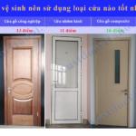 Cửa vệ sinh, cửa nhà tắm nên sử dụng loại cửa nào ?