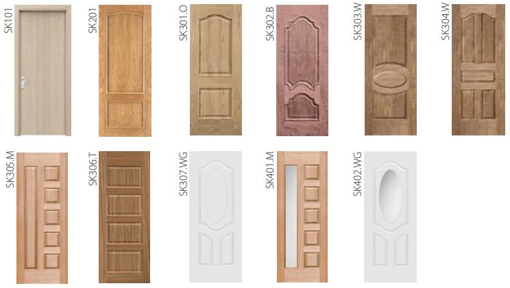 Mẫu cửa gỗ công nghiệp Veneer thương hiệu Huge - Austdoor
