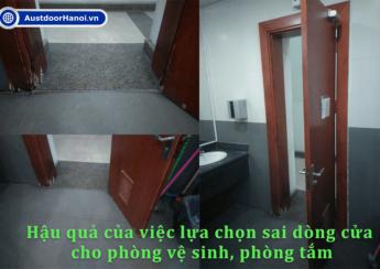 sai lầm khi lựa chọn chọn cửa vệ sinh, cửa phòng tắm