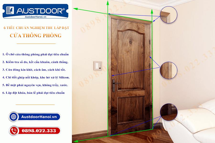 Tiêu chuẩn lắp đặt cửa gỗ thông phòng - Cửa gỗ Huge