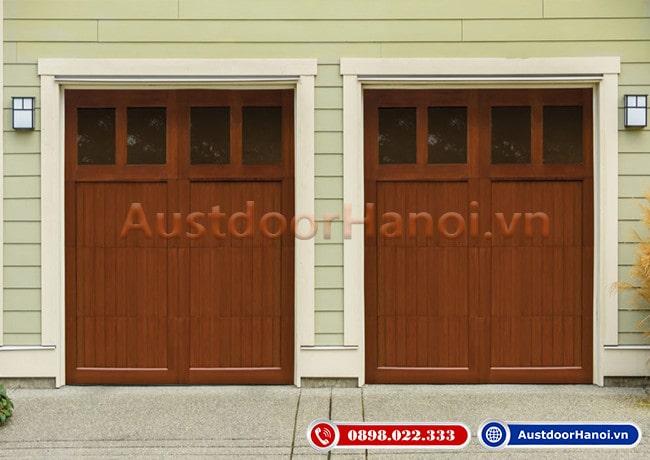 Cửa gỗ 4 cánh phong cách tối giản