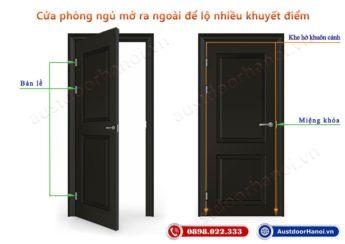Cửa phòng ngủ mở ra hay mở vào