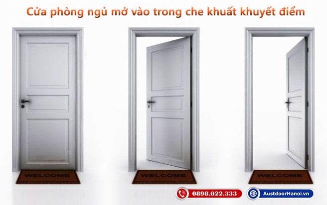 Cửa phòng ngủ mở ra hay mở vào trong