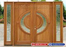 Mẫu cửa gỗ 4 cánh đẹp nhất gỗ sồi hiện đại