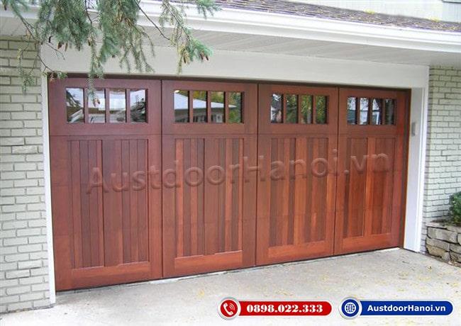 Mẫu cửa gỗ 4 cánh đẹp nhất tối giản gỗ Lim
