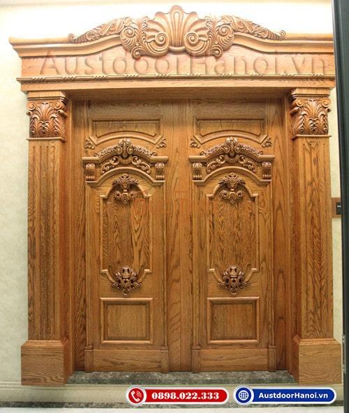 Mẫu cửa gỗ 4 cánh Xoan Đào đẹp nhất