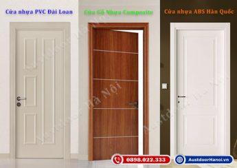 Báo giá cửa nhựa giả gỗ: Cửa nhựa PVC Đài Loan giá rẻ, Cửa nhựa lõi thép vân gỗ abs Hàn Quốc, Cửa gỗ nhựa cao cấp