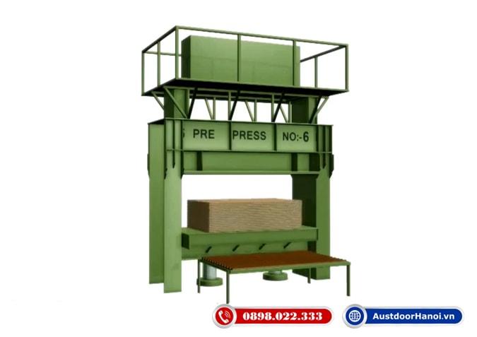 bước 8 ép áp suất nhiệt ván gỗ công nghiệp plywood