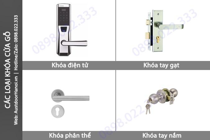 Các loại khóa cửa gỗ phụ kiện