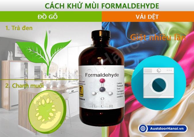 Cách khử mùi Formaldehyde Fomandehit trong gỗ vải là gì