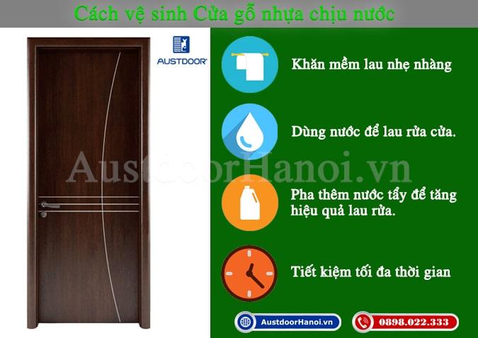cách vệ sinh cửa gỗ nhựa composite chịu nước Huge - Austdoor