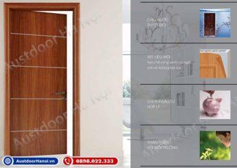 Cửa gỗ nhựa composite Huge - Austdoor cho cửa phòng ngủ, vệ sinh, cửa chính