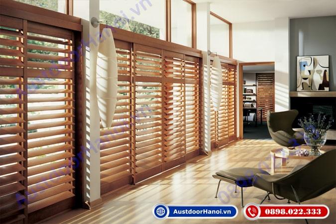 Cửa chớp lật gỗ điều hòa không khí