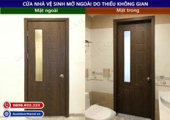 Cửa phòng tắm nhà vệ sinh mở ra ngoài do thiếu không gian