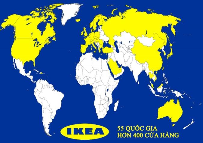 Bản đồ thị trường đồ gỗ nội thất ikea trên thế giới và việt nam