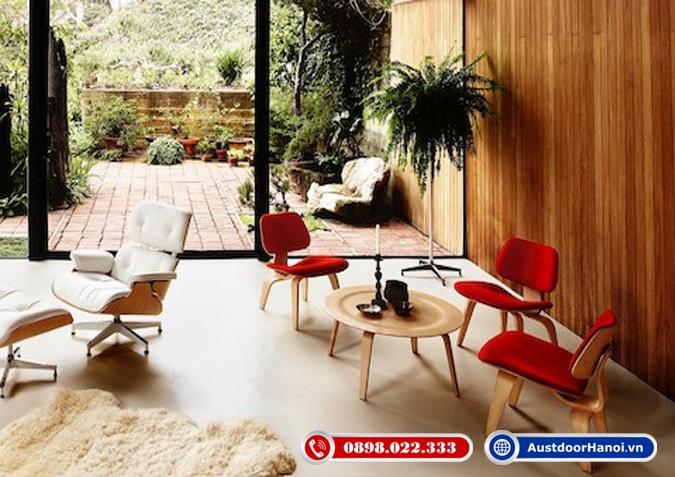 Đồ nội thất bàn ghế ốp tường làm bằng ván ép gỗ Plywood