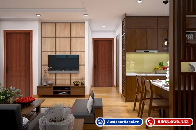 Đồng bộ cửa gỗ composite thông phòng ngủ, nhà vệ sinh, phòng khách đang là xu hướng